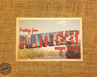 Greetings from Pawtucket RI Large Letter Post Card