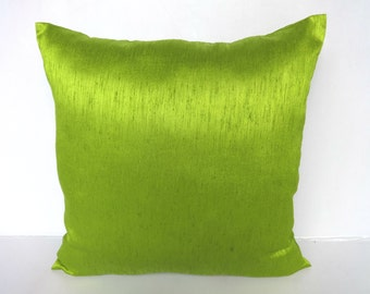 Apple Green pillow cover. Lime green cushion cover art silk cushion  24 inch price for set of 2on 20% discount. Below price is for 2 pcs