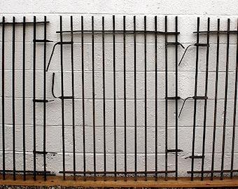 """3 Set 35""""x47"""" Antique Vintage Iron Metal Gate Fence Panels Grilles Window Guards"""