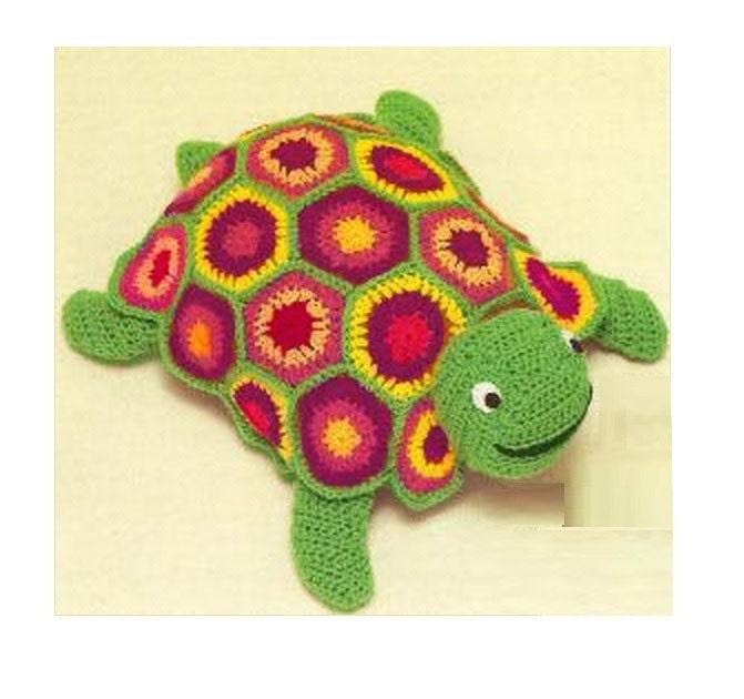 Patron pdf de tejido en crochet juguete tortuga, crochet safari