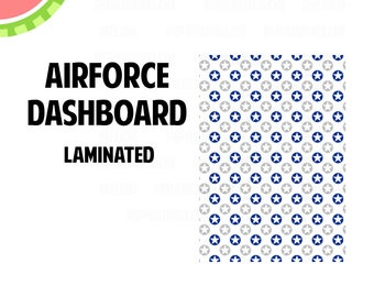 AIRFORCE Laminated Dashboard for Traveler's Notebook | .3mil | DB070