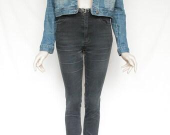 80s Vintage Blue Jean Denim Jacket for Women