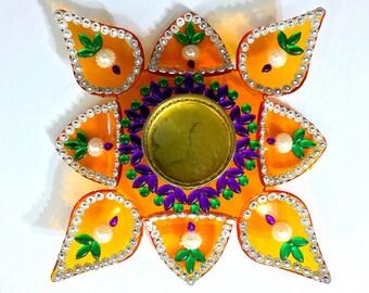 Lotus Petal Diya