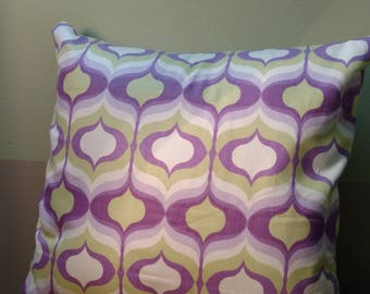 Geometric pattern pillow cover only linen groovy purple green cushion cover envelope closure housewares home decor