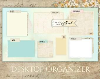 Desktop Organizer Wallpaper - digital image