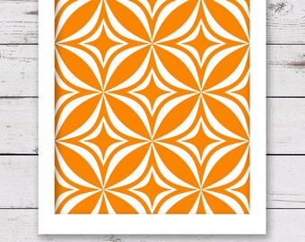PRINTABLE Art, Geometric Art, Orange Art, Modern Art, Living Room Art, Mid Century Modern Art, INSTANT DOWNLOAD, Dining Room Art, Art Print