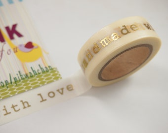 Handmade with love Washi Tape (10M)