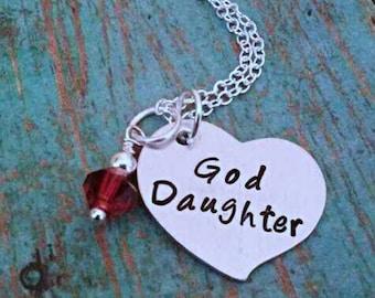 God Daughter Necklace - God Daughter - God Daughter Gift - Gift for God Daughter - Little Girl Gift - Birthday Gift for a Girl - God