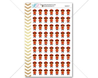 Firefighter Stickers for planner, calendar! Functional planner stickers fire sticker functional sticker occupation sticker #SQ00627