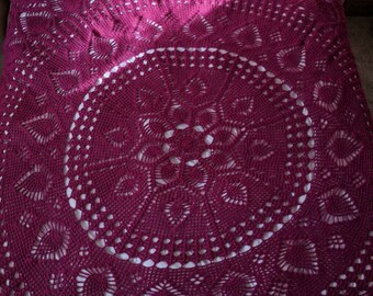 Large 9.5ft King Sized Doily Afghan