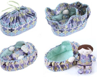 Basket and Baby Purse - immediate download - PDF sewing pattern - free shipping