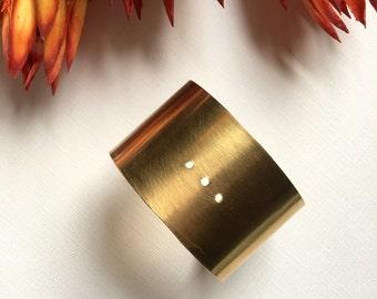 Minimalist Brass Cuff