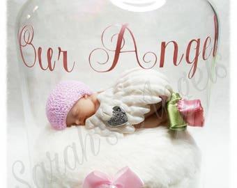 Infant Loss, Miscarriage, Born Sleeping, Angel Baby Memorial Bell Jar