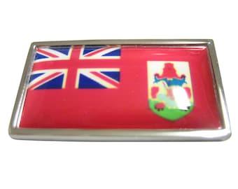 Thin Bordered Bermuda Flag Pendant Magnet