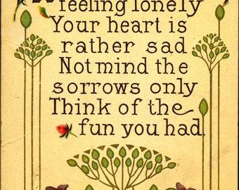 FRIENDSHIP, Greetings, 1913, Vintage Postcard, TOP0497