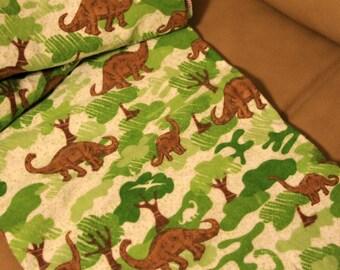 Dinosaur Flannel Stroller Blanket