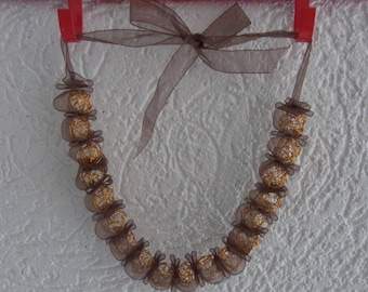 christmas necklace/gold necklace