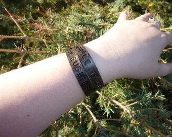 Saving People Hunting Things Fandom Inspired Wrap Leather Bracelet