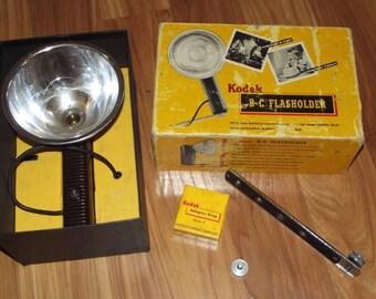 Vintage Kodak B-C Flasholder with Original Box