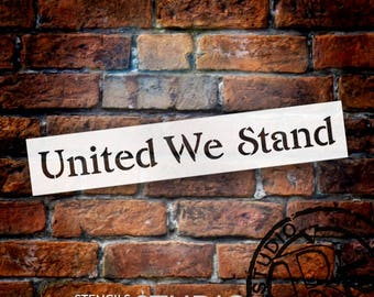 United We Stand - Word Stencil - Select Size - STCL1247_2 by StudioR12