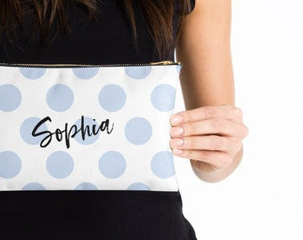 Personalized Makeup Bag Monogram Makeup Bag Custom Pouch Custom Cosmetics Bag Personalized Pouch Bridesmaid Gift Zipper Pouch Gift for Her