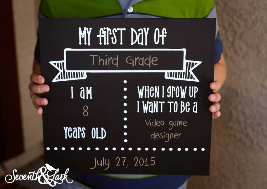 first day of school sign template - back to school chalkboard back to school sign first day of
