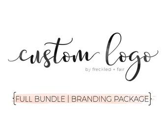 CUSTOM LOGO DESIGN Bundle, Branding Package, Shop logo, Shop banner,