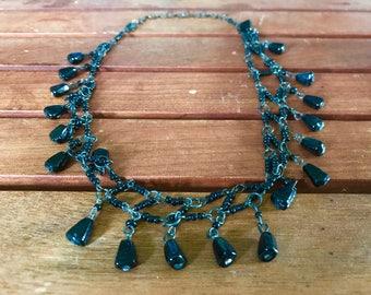 Indian Double-Strand Noir Necklace