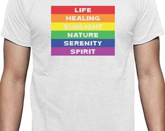 Rainbow Gay & Lesbian Pride Flag Meaning T-Shirt