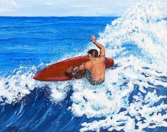 Off The Lip -  Surf Art Giclee Print