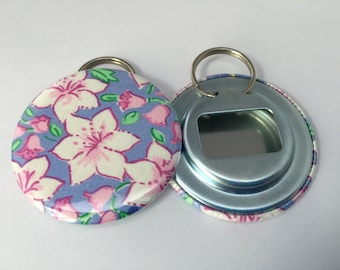 """Lilly Pulitzer """"Cozy Posie"""" Fabric Bottle Openers"""