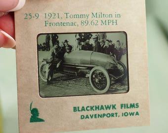 RARE Blackhawk Slide Set- Indianapolis Speedway- Set No. 25- Blackhawk Films, Davenport, Iowa- Speedway winners from 1911-1954- 38 Slides
