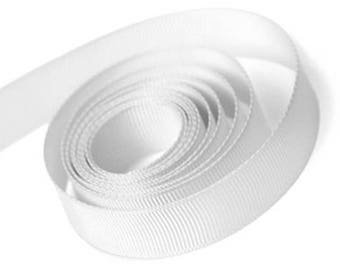 White Grosgrain Ribbon 15mm and 23mm Rolls Available