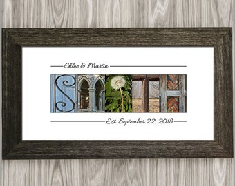 Last Name Sign, Alphabet Photography, Family Name Sign, Last Name Established Sign, Personalized Family Established Name Sign, Gift for Her