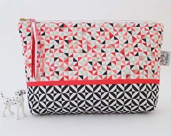 Large makeup bag or cosmetic bag with an original ANJESY design