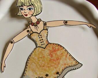 Original Fully Assembled Articutlated Blondie Paper Doll