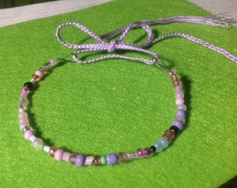 Beautiful pastel bracelet, beaded