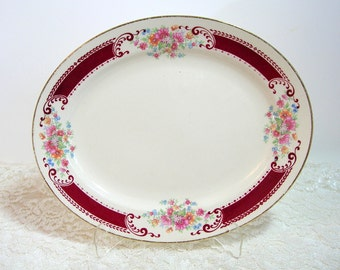 Homer Laughlin Vintage Floral Platter