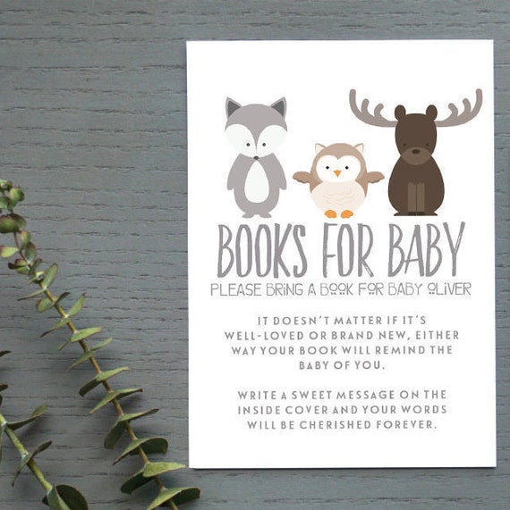 Scotland Run Baby Shower - Book Request Card