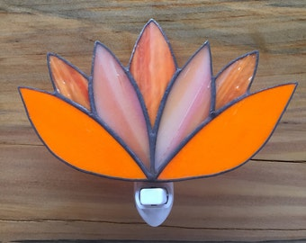 Stained glass night lights- Lotus flowers
