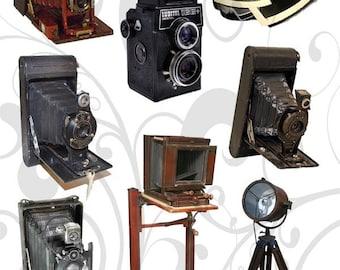 Vintage Cameras Png Collage sheet