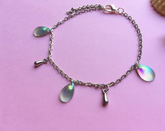 Candy seashell summer vibes anklets with 7 color choices