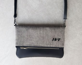 Small Sh*t Embroidery Fold-Over Purse