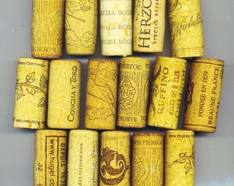 18 pcs Clean Wine Cork, Natural Cork for Crafts, Re Purposed Crafts, Used Recycled, Wedding Decorations - DESTASH by enchantedbeas on Etsy