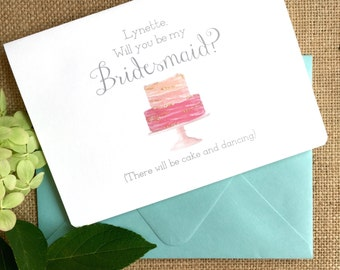 Will you be my Bridesmaid card, personalized bridesmaid card, funny bridesmaid card, bridesmaid gift, bridesmaid proposal, custom note cards