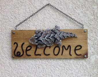 Phrynosoma welcome sign
