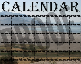 Personalized Great Salt Lake Monthly Calendar