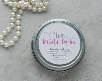 Bridal Shower Favor - Tea Party Favour - Cup of Tea with the Bride-to-Be - High Tea Party - Afternoon Tea Party - Wedding Shower Favour