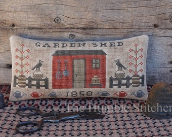 Garden Shed...Primitive PAPER Cross Stitch Pattern By The Humble Stitcher