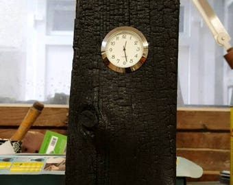 Clock/wooden Desk clock